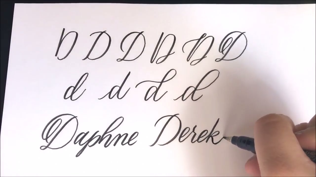 Real Time Brush Calligraphy Letter D