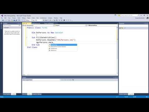 2. دورة بيانات XML في الفيجوال بيزك -   جلب XML إلى Dataset