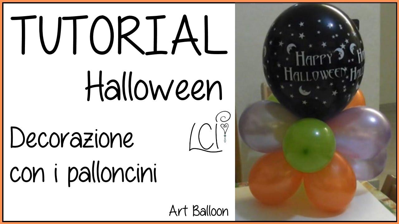 Top DIY - Tutorial Halloween - centrotavola in Art Balloon - YouTube TK49