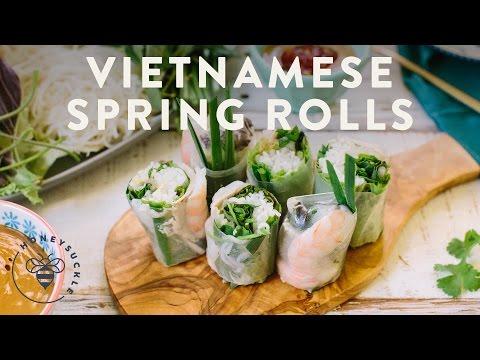 Vietnamese Spring Rolls (Gỏi Cuốn) - Honeysuckle