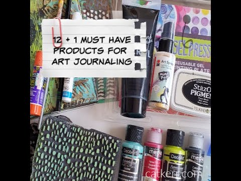 My 12 Art Journaling Must-Have Supplies!