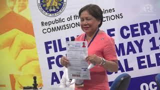 Cynthia Villar files COC, justifies signing TRAIN law