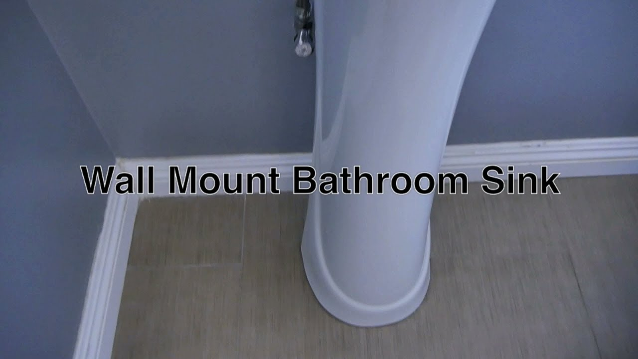Wall Mount Bathroom Sink By Glacier Bay / Modern Faucet For Small Bathrooms  + Drain / Plumbing Parts   YouTube