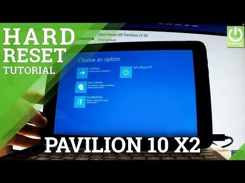 Hard Reset HP Pavilion 10 X2 - Remove Password in Windows Tab