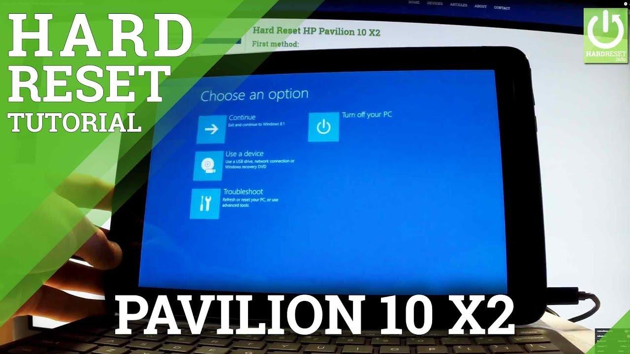 Hard Reset HP Pavilion x13 113, how to - HardReset.info