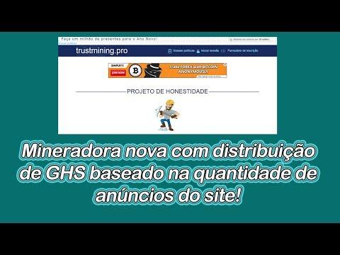 Trust Mining - Novo sistema de mineração baseado em anúncios no site.