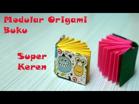 Cara membuat origami buku kecil origami book and paper