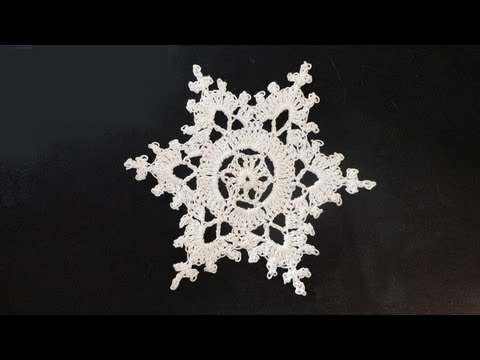 How To Crochet Snowflakes Youtube