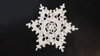 How To: Crochet Snowflakes