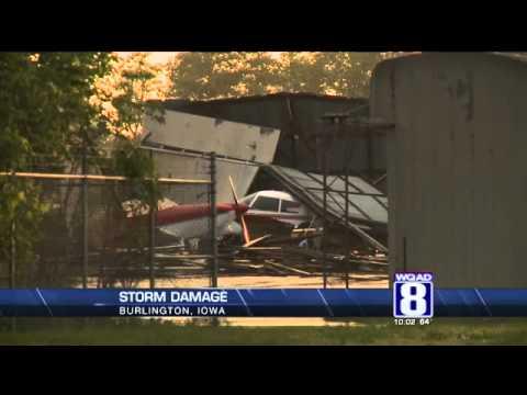 Storm Damage in Burlington, Iowa