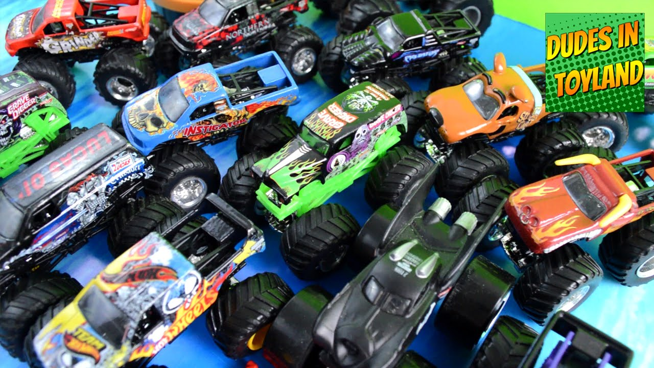 Monster Trucks Toys Collection Grave Digger Jam In Mud Videos For