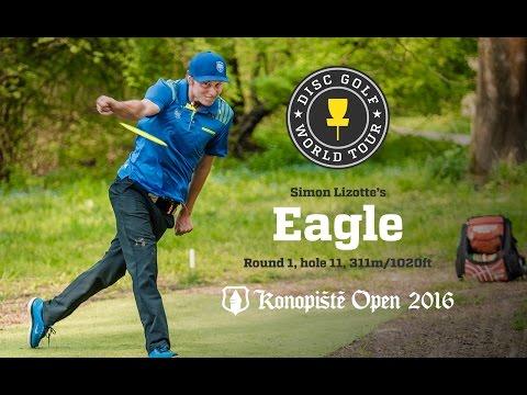 Simon Lizotte's Eagle @ Konopiste Open 2016, Round 1