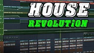 House Revolution | 3,7 GB Of FL Studio Templates, Melodies, Serum Presets & More!