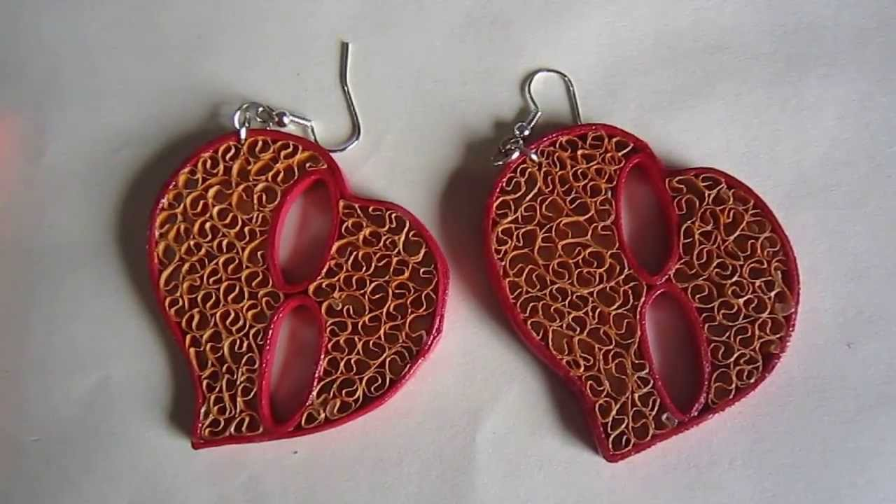 Handmade Jewelry Free Form Quilling Paper Earrings Not Tutorial You