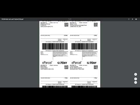 How to print Australia Post eParcel labels with ReadyToShip