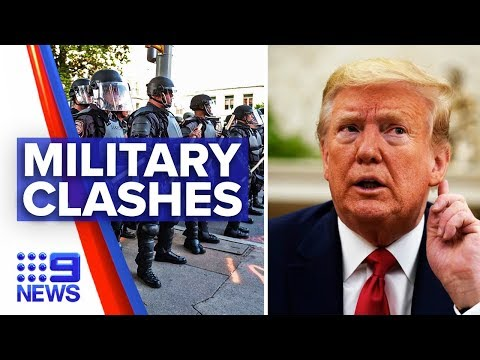 Trump clash with Pentagon officials over military use | Nine News Australia