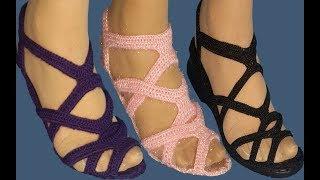 Kolay Çeyizlik Yeni Patik Modeli, Sandalet Örneği