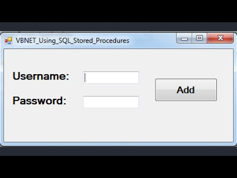 VB.NET -  Using SQL Stored Procedures In Visual Basic.Net [ with source code ]