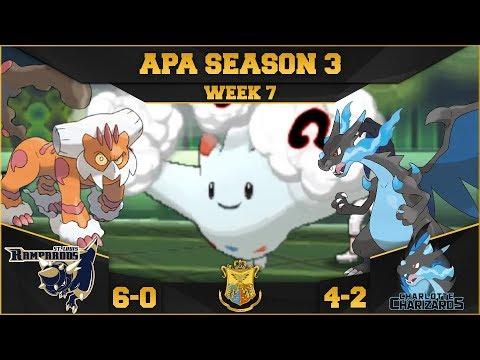 A LUCK BASED GAME!   StL Rampardos VS Clt Charizards APA S3 W7    Pokemon Ultra S/M