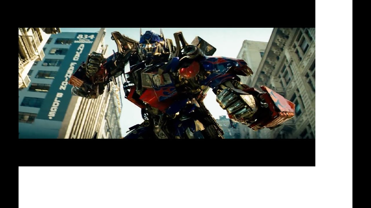 transformers (2007) optimus prime vs megatron (hd latino) - youtube