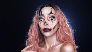 ????特殊|性感小丑骷髏妝 Clown x Skull makeup Halloween makeup |Nitata