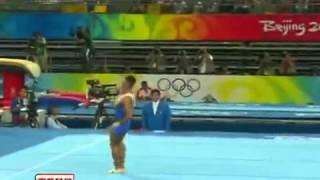 2008年 北京オリンピック 体操男子種目別決勝 床 GOLOTSUTSKOV Anton  アントン・ゴロツツコフ 15.725 銅メダル