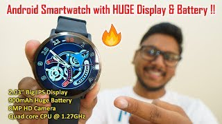 Android 7.1 Smartwatch with BIGGEST Display & Battery !!