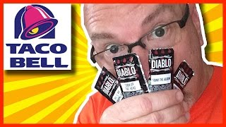 "Taco Bell Diablo Sauce Challenge ""12 Packages"""
