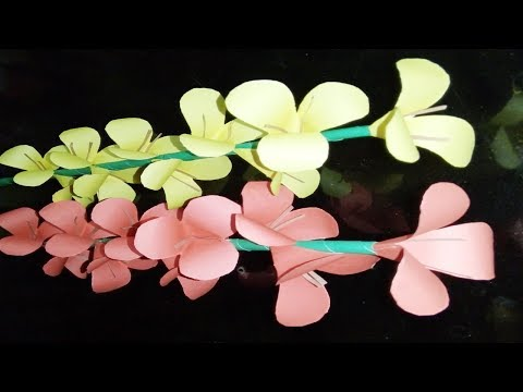 Beautiful Red Yellow Diy Paper Stick Flower | Zinat Crafts