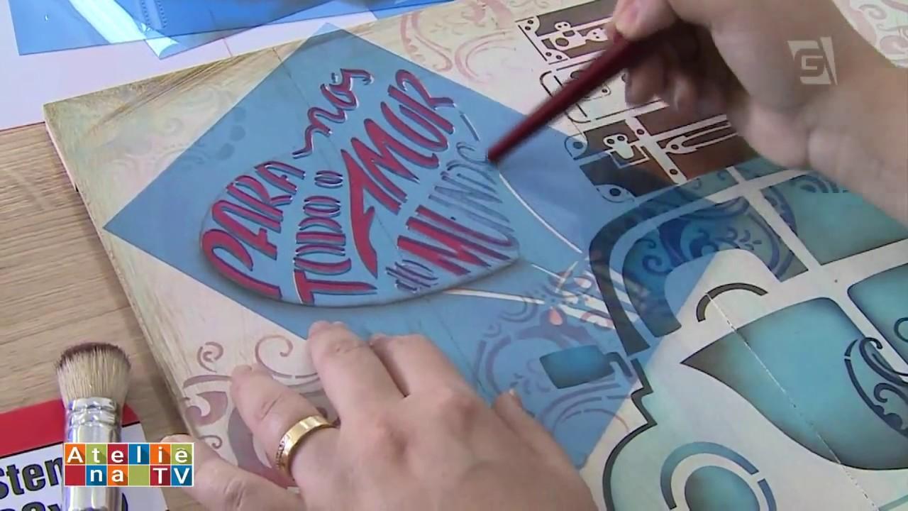 Artesanato Com Madeira ~ Ateli u00ea na TV TV Gazeta 30 12 16 Mayumi Takushi YouTube