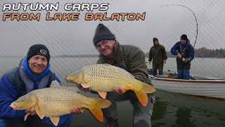 Searching Carp Fishing in the Autumn on Lake Balaton