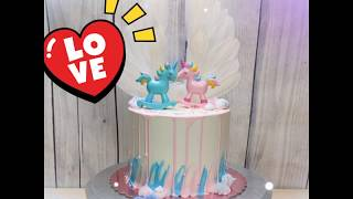 Unicorn Wing Topper Cake - Sensational Cakes