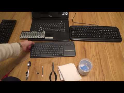 How to Remove, Clean & Replace KEYS on various different PC/Laptop Keyboards