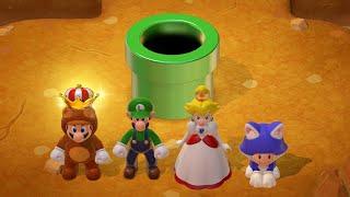 Super Mario 3D World 100% Walkthrough - World 4 (4 Players)