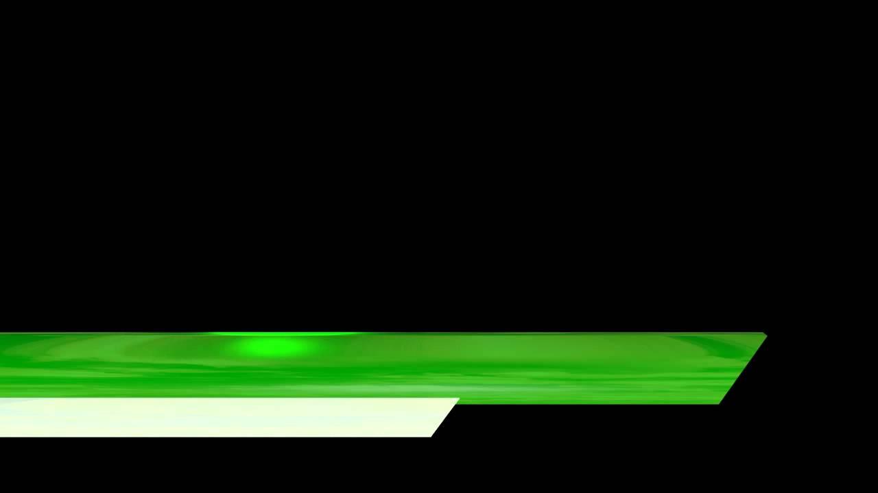 video lower third shiny green white bars edge cut