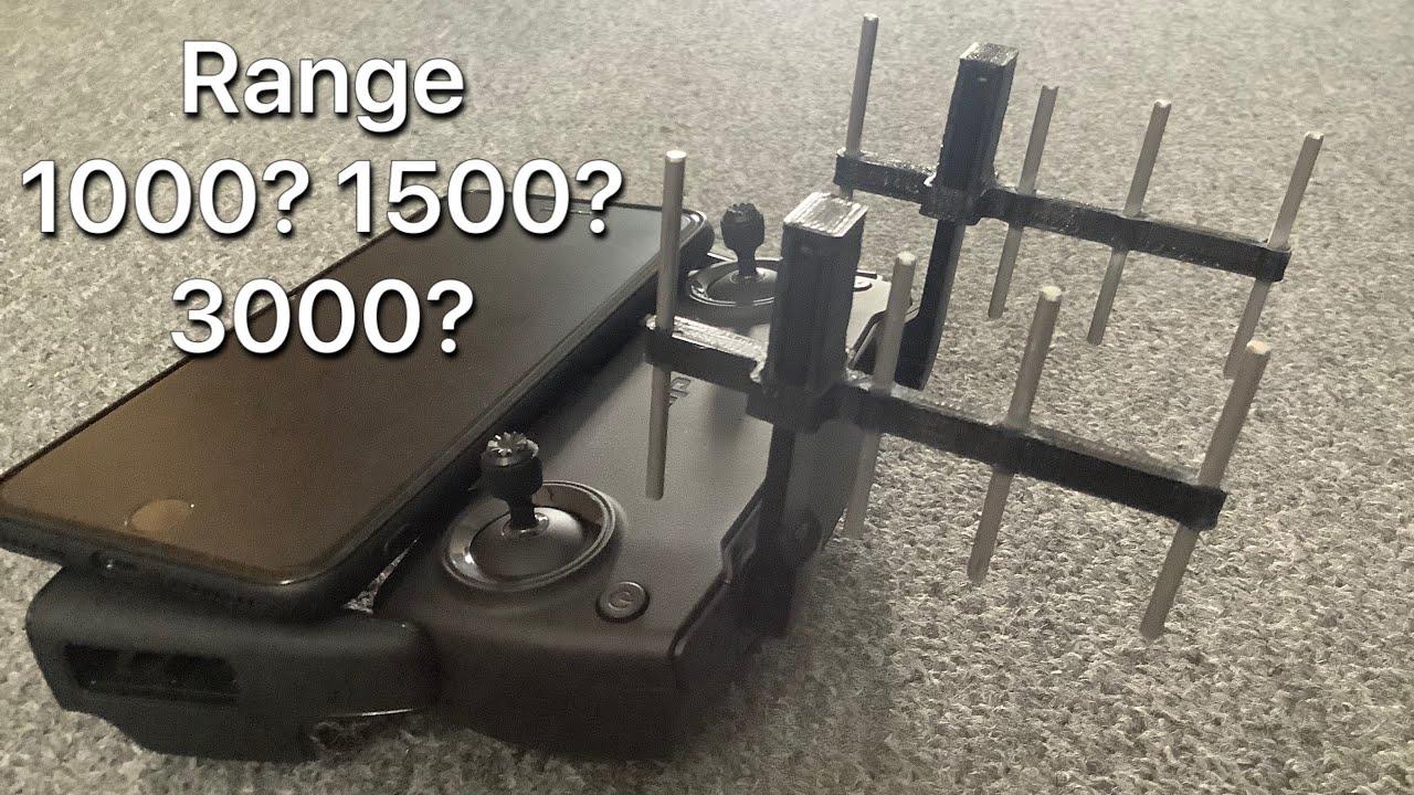 DIY Yagi Antenna First 2,4 Test CE with dji MAVIC MINI - YouTube