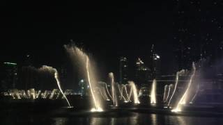 The Dubai Fountain Show 2016 (evening)