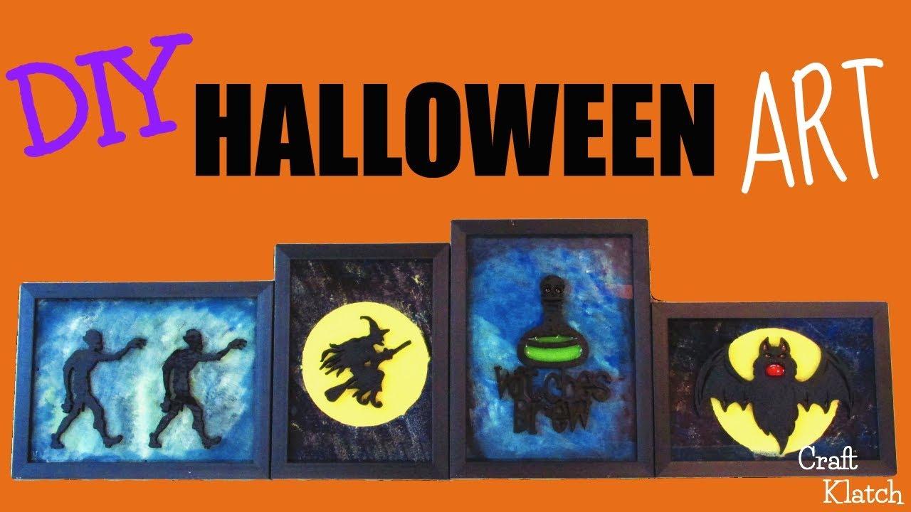 halloween art decor diy dollar store crafts craft klatch youtube. Black Bedroom Furniture Sets. Home Design Ideas