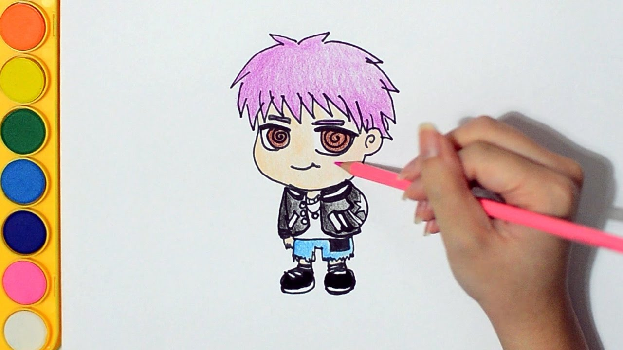 Learning How To Draw And Colour Chibi Bts 방탄소년단 Rap Monster