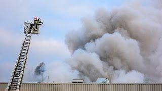 Wielki pożar fabryki Fuji Seal w Kutnie