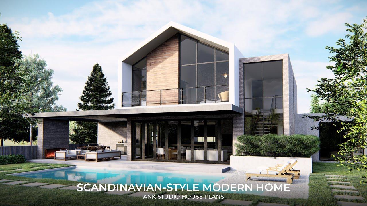 20,20 sq ft Scandinavian Modern House Plan
