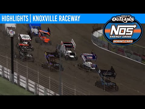 World of Outlaws NOS Energy Sprint Car Series iRacing.com Invitational Feature Event Highlights from Knoxvile Raceway in Knoxville, Iowa on April 7th, 2020. - dirt track racing video image