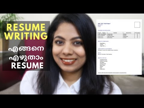 How to write a resume for Fresher I Bonus tip at end I Malayalam Vlog