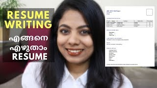 How to write a resume for Fresher I Bonus tip at end I Malayal…