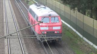 Züge im vollen Tempo -Vollbremsung BR225!!! -Trains in high speed