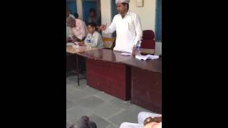 Ramlal Jat- MLA - addressing people of MOTA KA KHERA for cheque vitran