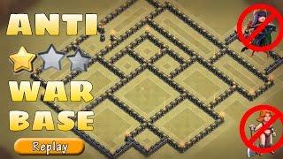 th9 war base   anti 3 stars govaho aq walk govaho replays   war proof   clash of clans
