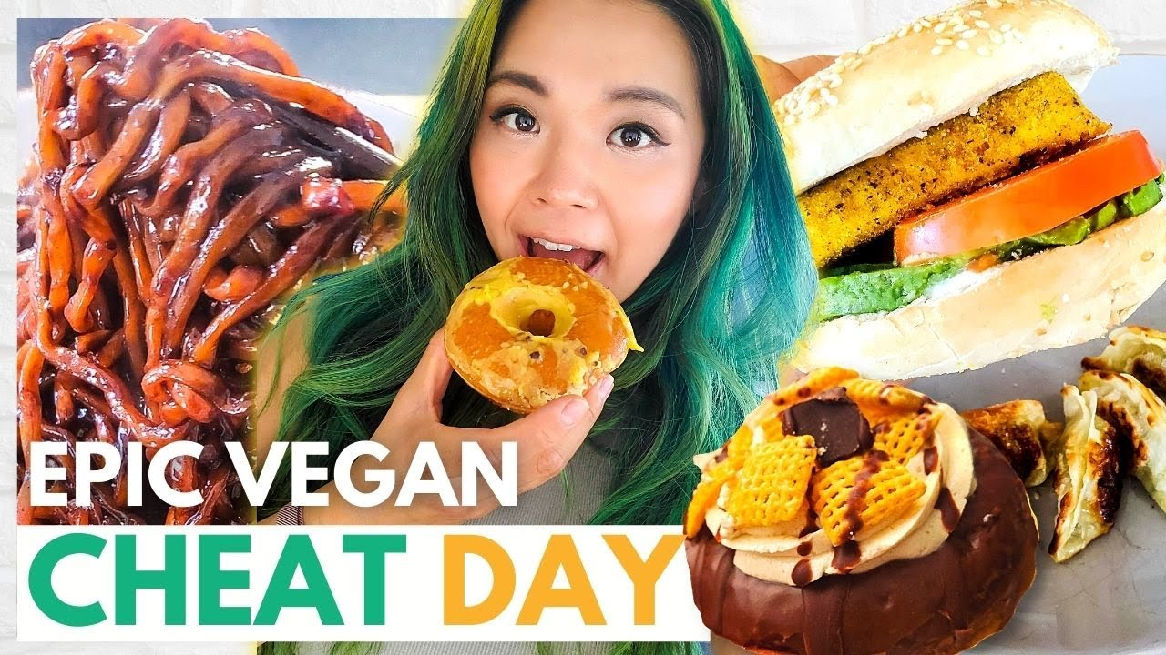 EPIC VEGAN CHEAT DAY! Eating UNLIMITED Calories!! (Not Healthy)