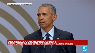 REPLAY - Former US president Barack Obama honours Nelson Mandela on the centerary of his birth