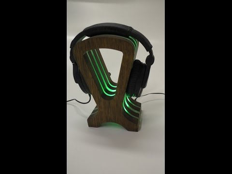 0055 Headphone Stand With RGB LED's - Video Update
